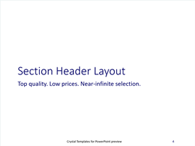 Crystal Template Layout Text 3